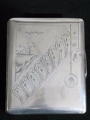 Russian Cigarette Case Solid  Silver 84 Grigory Sbitnev