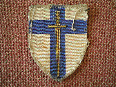 WW2 British Second Army Division Economy Printed Canvas Formation Insignia Badge