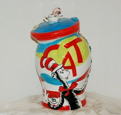 Dr. Seuss's THE CAT IN THE HAT COOKIE JAR NEW IN BOX NEVER USED