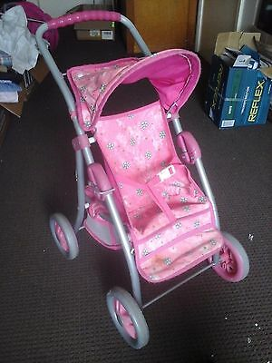 Doll's pram, folds up, great condition