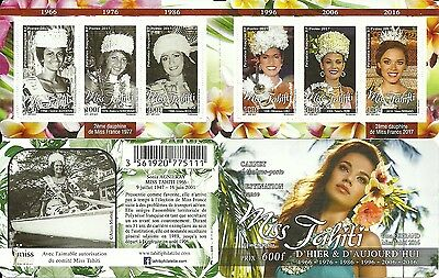 New Issue French Polynesia Miss Tahiti Booklet  Mnh 2017