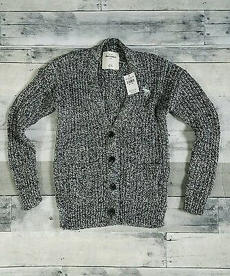 Abercrombie Kids Girls Sparkly Black White Button Up Cardigan NWT 9/10 $40 Reg