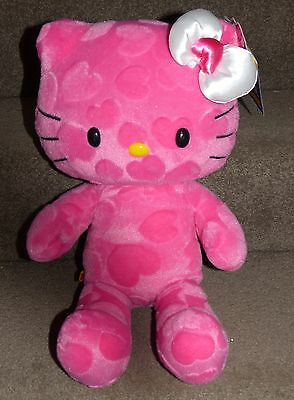 Build A Bear Hello Kitty Pink Hearts Plush Doll - Brand New With Tags! Very Cute