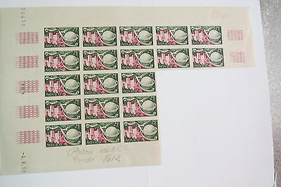 Monaco stamps 1949 UPU trial colour imperf MUH