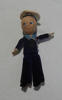 Rare Vintage Castel Felice Cloth Sailor Doll