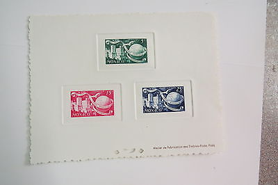 Monaco stamp 1949 UPU sunken mini sheet MUH