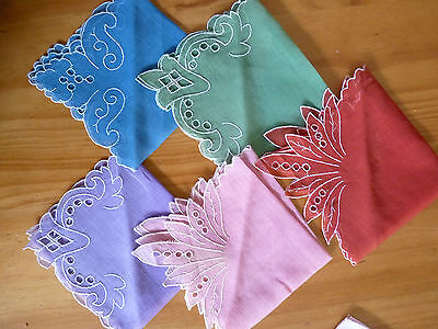 LOT of 14 Mostly VINTAGE Unique Ladies Hankies Handkerchiefs Some Embroidered