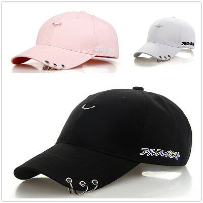 Snapback Hats BTS Jimin Fashion K Pop Iron Ring Hats Adjustable Baseball Cap