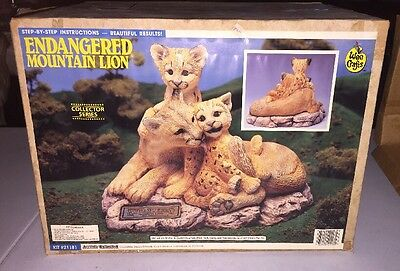 Accents Unlimited Wee Crafts Ready To Paint Pottery Endangered Mountain Lion
