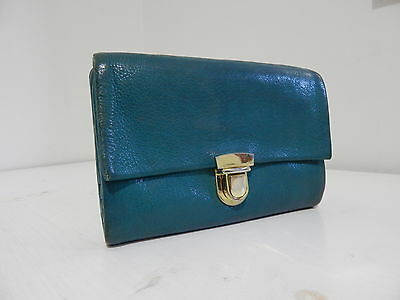 TILKAH Quality Soft Turquoise Genuine Leather Coin Purse Wallet