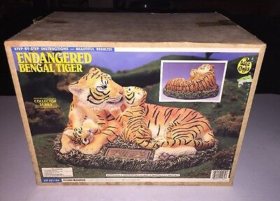 Accents Unlimited Wee Crafts Ready To Paint Pottery Endangered Bengel Tiger