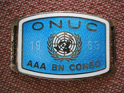 1963 Swedish United Nations AAA Battalion Congo Norwegian Sterling Bracelet