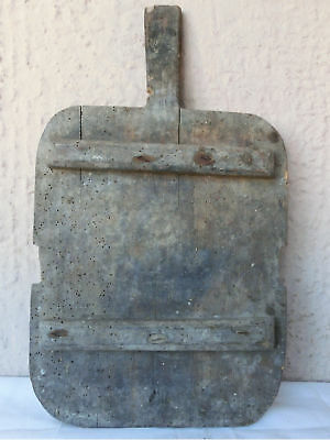 """۞ 21x12+"""" Old ANTIQUE primitive dough Bakery Bread wooden Cutting Board #90"""