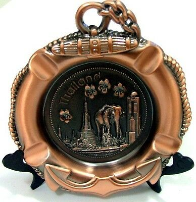 3D Ooak Ashtray Bronze Alloy Metal Souvenirs Thailand Figurine Chang Gift Rare