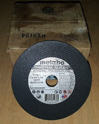 "Metabo Original Slicer Cut-Off Wheels 6"" x .040"" x 7/8"" Box of 50"