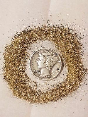 Alaskan Fine Gold!! 3 Grams of Gold Fines!! + mercury dime every purchase!!