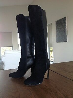 Wittner womens suede black high boots