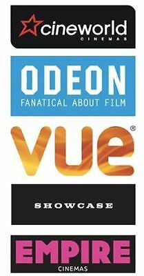 2 for 1 CINEMA TICKET CODE for wed 28th JUNE - Cineworld Odeon Vue