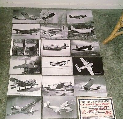 Vintage Official Photos U.s. Army & Navy Planes 32 Aircraft Wwii Photographs