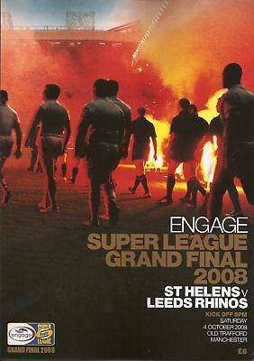 SUPER LEAGUE GRAND FINAL 2008 LEEDS RHINOS v ST HELENS
