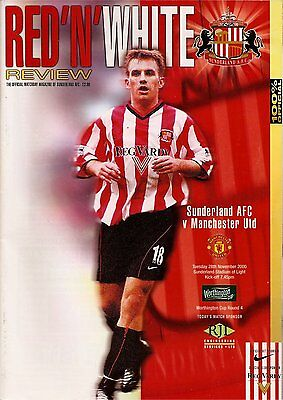 SUNDERLAND v MANCHESTER UNITED League Cup 4th Round 2000/01