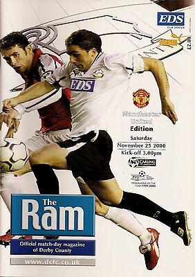 DERBY COUNTY v MANCHESTER UNITED Premier League 2000/01