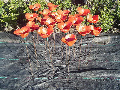Red Ceramic Poppy ,comes with a free gift