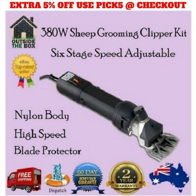 380W Professional Sheep Goat Shearing Grooming Clipper Kit 1-6 Speed Levels New