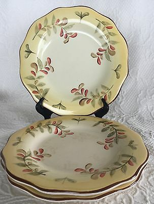 """Three Better Homes & Gardens TUSCAN RETREAT Salad plates 9"""" very good preowned"""