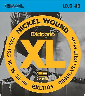 5 Sets D'Addario EXL110+ Electric Guitar Strings 10.5 Light EXL110 Plus Pack