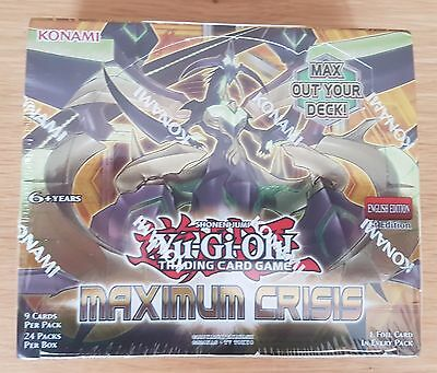 Yu-Gi-Oh! TCG Maximum Crisis Booster Box 24 Packs (Sealed and Unopened)
