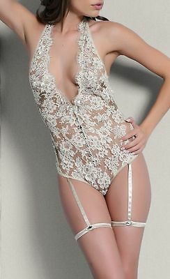 Luxury I.D.Sarrieri Sparkling Champagne Provocateur Bodysuit UK L