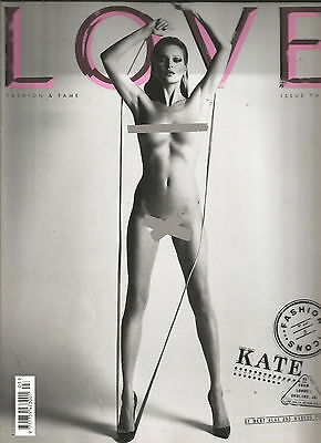 Love Magazine Issue 3 - Fashion Icons Issue -  Kate Moss Nude on Cover & Inside