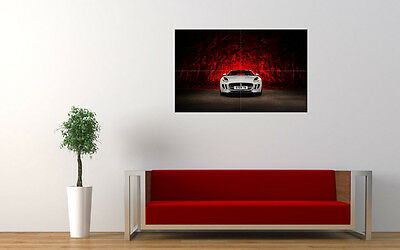 """JAGUAR F TYPE WHITE PRINT WALL POSTER PICTURE 33.1"""" x 20.7"""""""