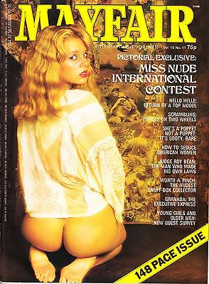 mayfair magazine volume 15 number 11 mens adult glamour magazine