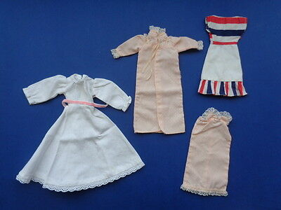 Sindy Doll Clothes Nighty Gown Dress Vintage Handmade Tlc Lot