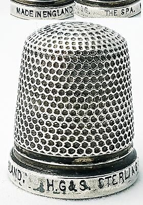 Antique Sterling Silver Thimble Henry Griffiths & Son The Spa (size 16)