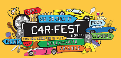 Carfest North 28-30 July 2 Adult + 2 kids festival camping weekend tickets.