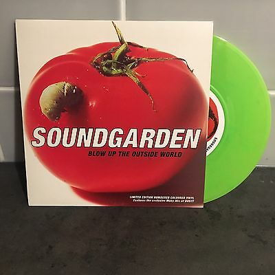 "Soundgarden 'Blow up The Outside World' 7"" NUMBERED GREEN VINYL SINGLE Rare"