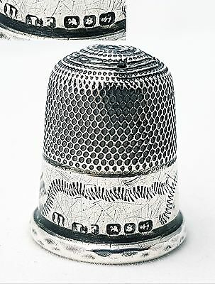 Antique Sterling Silver Thimble James Fenton Birmingham 1897 (size 11)