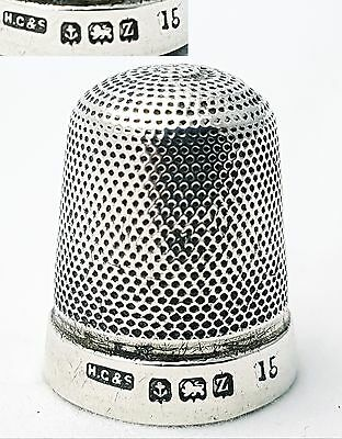Antique Sterling Silver Thimble Henry Griffiths & Son Birmingham 1924 (size 15)