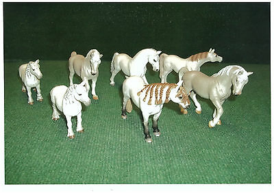 Schleich Lot De 7 Chevaux Blancs