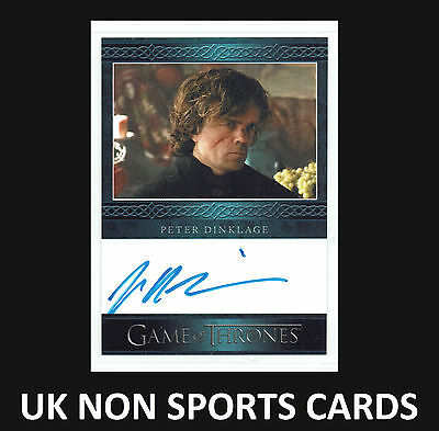 Game of Thrones Season 3 Autograph Card Peter Dinklage as Tyrion Lannister