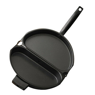 Folding Stainless Steel Pot Non-stick Omelet Pan Stovetop Cookware O8H1