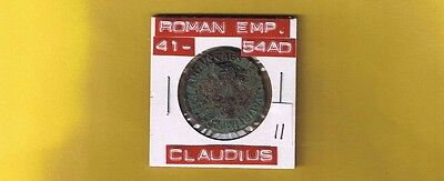 """Ancient Roman Empire Coin of """"Claudius"""" 41-54 AD...AE-AS ...RIC113...Large 30mm"""