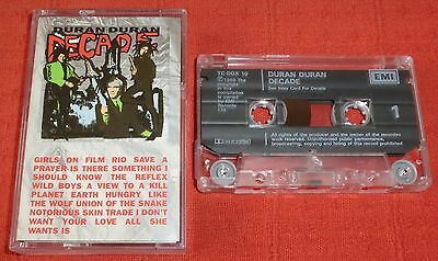 Duran Duran - Uk Cassette Tape - Decade (Greatest Hits/best Of)