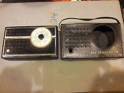 Vintage FERRIS AM Transistor Radio With Case POST FAST