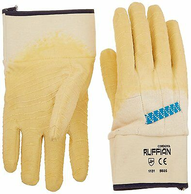 San Jamar 1000 Oyster Shucking Glove, Natural Rubber/Latex/Cotton Pack of 2