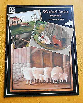 FOLK  HEART  COUNTRY Seasons 3 ~ By Elaine Law CDA ~ 36 Pages ~ 2003 SC Book