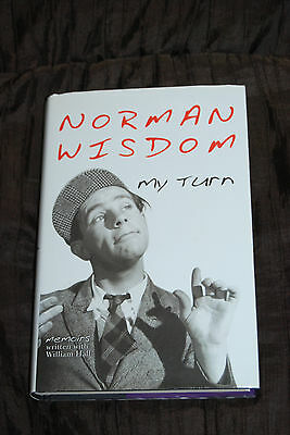 Sir Norman Wisdom Signed to Geoff - Autobiography My Turn Memoirs - Rare